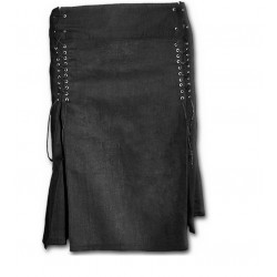 Dámská sukně Spiral Direct - Laceup Short Skirt Black