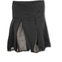 Dámská sukně Spiral Direct - Mesh Slit Skirt Black