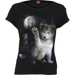 Dámské tričko Spiral Direct - Wolf Puppy