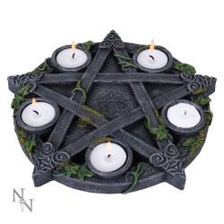 Dekorační Svícen - Wiccan Pentagram