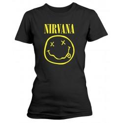 Dámské tričko Nirvana - Smiley