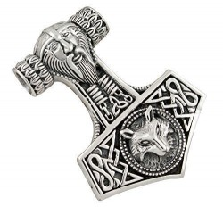 Ocelový přívěsek - Thorovo Kladivo - Viking