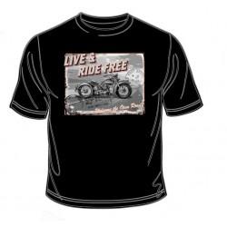 Pánské tričko  - Live and Ride Free
