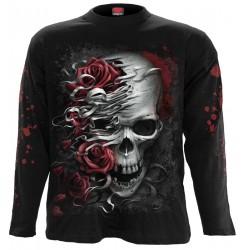 Pánské tričko s dlouhým rukávem Spiral Direct - Skulls N' Roses