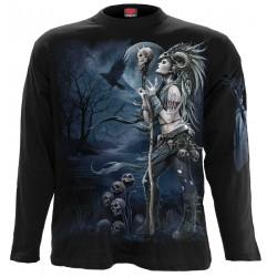 Pánské tričko s dlouhým rukávem Spiral Direct - Raven Queen