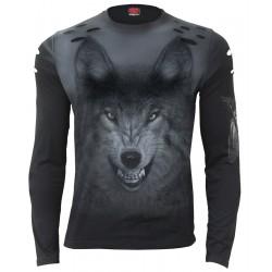 Pánské tričko s dlouhým rukávem Spiral Direct - Shadow Wolf