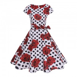 Dámské retro šaty - Polka Roses