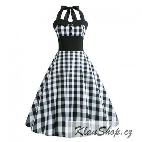 2ad9c8434140 Dámské retro šaty - Checkered White - KlanShop