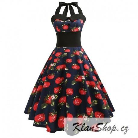 Dámské retro šaty - Strawberries