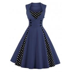 Dámské retro šaty - Navy Blue Vintage