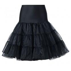 Spodnička pod retro šaty - Černá