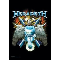Vlajka na zeď s kapelou - Megadeth - Eagle