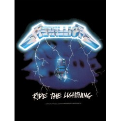 Vlajka na zeď s kapelou - Mettalica - Ride The Lightning