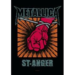 Vlajka na zeď s kapelou - Metallica - St. Anger