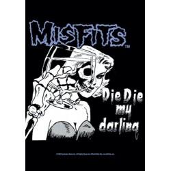 Vlajka na zeď s kapelou - Misfits - Die Die My Darling