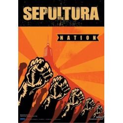 Vlajka na zeď s kapelou - Sepultura - Nation