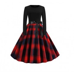 Dámské retro šaty - Patchwork