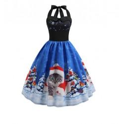 Dámské retro šaty - Christmas Cat