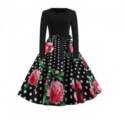 Dámské retro šaty - Rose Polka