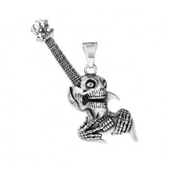Ocelový přívěsek - Metalová kytara