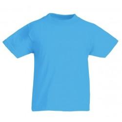 Dětské tričko Fruit Of The Loom - Azurově modré
