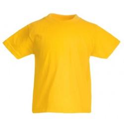 Dětské tričko Fruit Of The Loom - Tmavě žluté