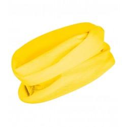 Multifunkční šátek bez potisku - Žlutý