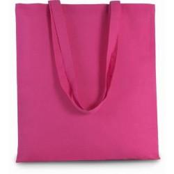 Bavlněná taška bez potisku - Tmavě růžová