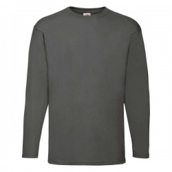 Pánské tričko s dlouhým rukávem bez potisku - Tmavě šedé