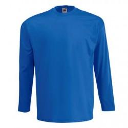 Pánské tričko s dlouhým rukávem bez potisku - Modré