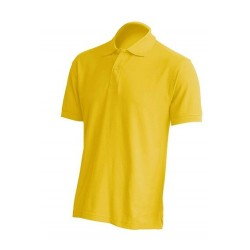 Pánská polokošile bez potisku JHK - Žlutá