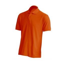 Pánská polokošile bez potisku JHK - Oranžová