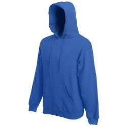 Pánská mikina s kapucí bez potisku - Královská modrá