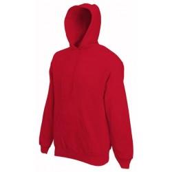 Pánská mikina s kapucí bez potisku - Červená