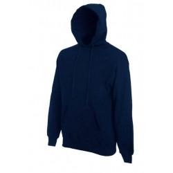 Pánská mikina s kapucí bez potisku - Námořnická modrá
