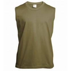 Pánské tričko bez rukávů a potisku XFer - Khaki