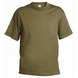 Pánské silnější tričko bez potisku - Khaki
