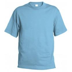 Pánské silnější tričko bez potisku - Světle modré