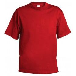 Pánské silnější tričko bez potisku - Červené