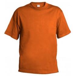Pánské silnější tričko bez potisku - Oranžové