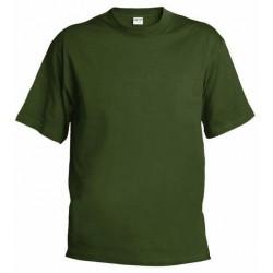 Pánské silnější tričko bez potisku - Olivové