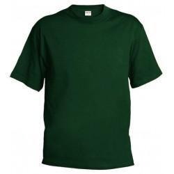 Pánské silnější tričko bez potisku - Tmavě zelené