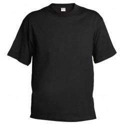 Pánské silnější tričko bez potisku - Černé