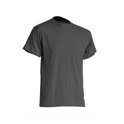 Pánské silnější tričko bez potisku - Tmavě šedé