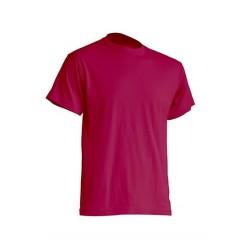 Pánské silnější tričko bez potisku - Malinové
