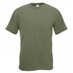 Pánské silné tričko bez potisku - Olivové