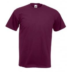 Pánské silné tričko bez potisku - Vínové