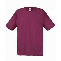 Lehčí tričko Fruit Of The Loom bez potisku - Vínové