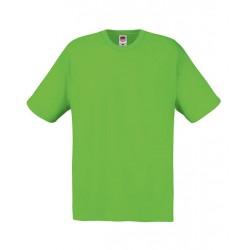 Lehčí tričko Fruit Of The Loom bez potisku - Limetkové