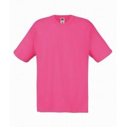 Lehčí tričko Fruit Of The Loom bez potisku - Růžové